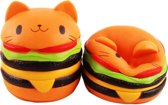 Squishy Hamburger, Cute kitty Slow Rising