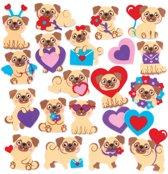 Baker Ross Foam-stickers van mopshonden (120 stuks per verpakking) Versieringen voor kunst- en knutselwerkjes voor kinderen