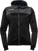 Kempa Emotion 2.0 Hooded  Sportjas - Maat XL  - Vrouwen - zwart/grijs