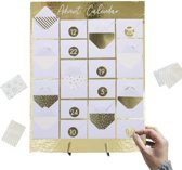 Advent Kalender Mini Envelop - Goudfolie op Standaard - Gold Christmas - Ginger Ray (1st)