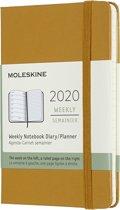 Moleskine Agenda - 12 Maanden - Wekelijks - Pocket (9x14cm) - Geel - Harde Kaft