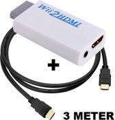 Wii naar HDMI converter / omvormer / adapter + HDMI kabel 3 meter