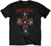 Guns n Roses Heren Tshirt -XL- Vintage Cross Zwart