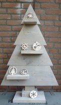 houten kerstboom grijs steigerhout 90cm
