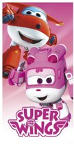 Super Wings strandlaken roze