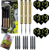 Michael van Gerwen 100% Brass 23 gram inclusief 3 sets van Gerwen darts flights en darts shafts