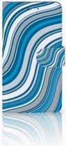 Huawei Y7 2017 | Y7 Prime 2017 Boekhoesje Design Waves Blue