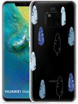 Huawei Mate 20 Pro Hoesje Feathers Pattern