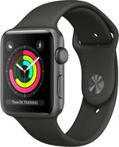 Apple Watch Series 3 - 38mm Spacegrijs  Aluminum / Grijs Sportband (GPS)