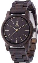 Nieuw - Topkwaliteit Trendy Houten Horloge - Edition: Dark Brown - UWOOD