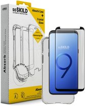SoSkild Samsung Galaxy S9 Absorb Impact Case Transparent and Tempered Glass Transparent