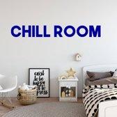 Muursticker Chill Room -  Donkerblauw -  120 x 15 cm  - Muursticker4Sale
