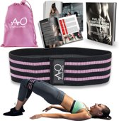 Weerstandsbanden - Bootybands - Fitnessband - Fitness Elastiek - Inclusief Workout E-book en Draagtas – Resistance Band Roze (Small)