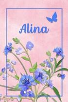Alina: Personalized Journal with Her German Name (Mein Tagebuch)