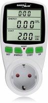 Energieverbruiksmeter Wattmeter Elektrische meter GreenBlue NL STEKKER
