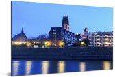 De kerk in de Duitse stad Duisburg Aluminium 90x60 cm - Foto print op Aluminium (metaal wanddecoratie)