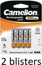 Camelion oplaadbare AAA batterij 900mah - 4 stuks
