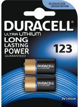Duracell CR123A - 2 stuks
