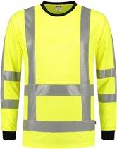 Tricorp t-shirt RWS Birdseye lange mouw - 103002 - fluor geel - maat L