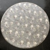 Palace Fashion Tafelzeil - Rond 160 cm - Flowers - Grey Roze