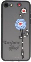 Blauw Love Forever back case Hoesje voor Apple iPhone 7 / 8