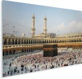 De Kaäba van Mekka in Saoedi-Arabië Plexiglas 160x120 cm - Foto print op Glas (Plexiglas wanddecoratie) XXL / Groot formaat!