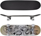 """vidaXL Ovaal skateboard met draken design 9-laags esdoorn hout 8"""""""
