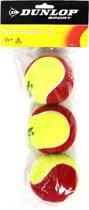 Dunlop Stage 3 tennisballen 3 stuks geel/rood