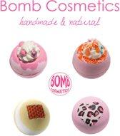 Bomb Cosmetics - Unieke Mix Badbommen - Handmade Bath Bombs Set - Natural - 100% Natuurlijk - Badbruisballen - Cadeau - Kado - Giftset - Set van 4 stuks – Combideal 3