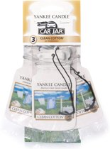 Yankee Candle Autoparfum Car Jar 3 stuks Clean Cotton