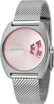 Esprit ES1L036M0055 Disc Horloge - Staal - Zilverkleurig - Ø 32 mm
