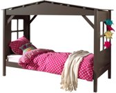 Vipack bed Pino - Breedte: 90 cm - Lengte: 200 cm - Taupe