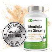 Rhodiola en Ginseng - 60 vcaps van Supreme Nutrition