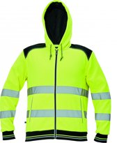 Knoxfield Hooded vest / sweater Hi-vis geel maat L