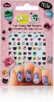 Nagel stickers met katten