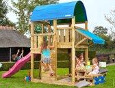 Jungle Gym - Farm Mini Picnic 160 - Houten Speelset voor Buiten - Met Glijbaan - Fuchsia