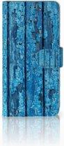 Huawei Mate 20 Lite Uniek Boekhoesje Wood Blue
