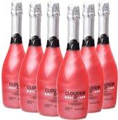 Cloudem - Alcoholvrije mousserende glitterwijn - Rosé - Framboos - 6 flessen