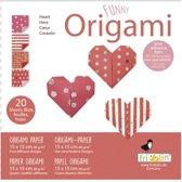 Fridolin Origami Hartjes Vouwen 15 X 15 Cm 20 Stuks Rood