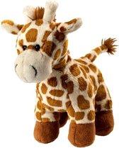 Pluche knuffel giraffe staand 18 cm