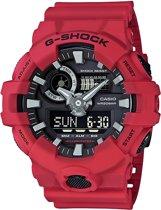 Casio GA-700-4AER horloge heren - rood - kunststof