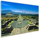 Teotihuacan  Mexico Glas 30x20 cm - klein - Foto print op Glas (Plexiglas wanddecoratie)
