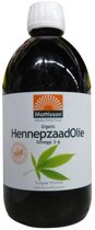 Mattisson Hennepzaadolie  Organic Raw - 500 ml - Voedingssupplement - Superfood