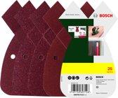 Bosch 25-delige schuurbladenset voor multischuurmachines - korrel 80; 120; 180