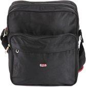 Adventure Bags Voyager Schoudertas - Mens Bag Hoog - Zwart