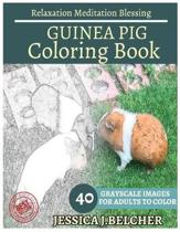Guinea Pig Coloring Book for Adults Relaxation Meditation Blessing