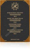 Menumap / Menukaart Mappen - 1x A4 - Houtpatroon Bruin