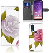Motorola One Vision Hoesje Roses