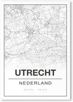 Poster/plattegrond UTRECHT - 30x40cm