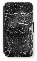 Samsung Galaxy S6 Flip Hoesje - Zwart marmer